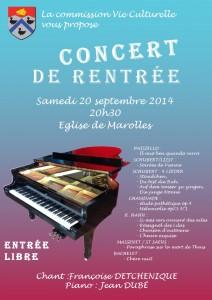 Concert de rentrée 2014