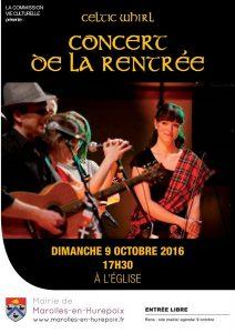 Read more about the article Concert de rentrée 2016